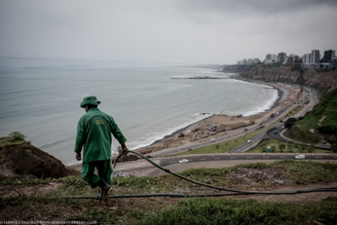 Lima's sprawling Pacific coastline. Lima is home to over 25% of the nation's population.