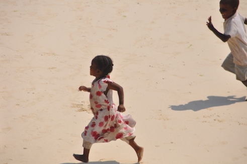Playing on the beach, Kizimkazi, Zanzibar