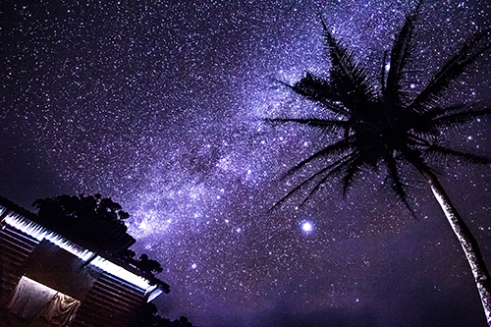 Milky Way: Absolutely devoid of light pollution, grandiose displays of the Milky Way radiate across the skies of Cakaudrove at night.