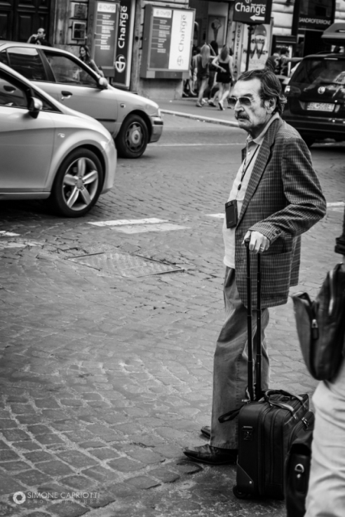 Old man in Travel