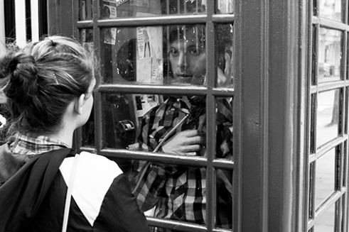 Phone Box Romance Great Russell Street, London, UK
