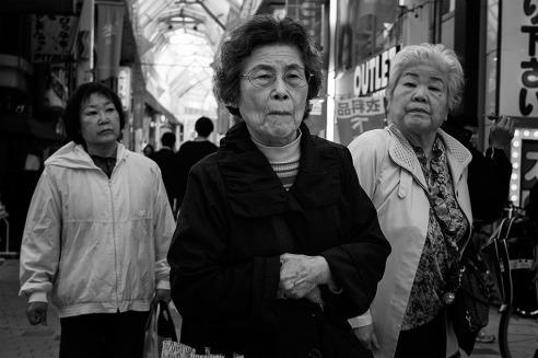 """The three musketeers"" Minami Asagaya shopping street, Tokyo, Japan"