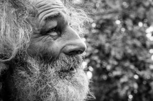 This is Giuseppe. He is a 54 year old homeless man living in Paris.