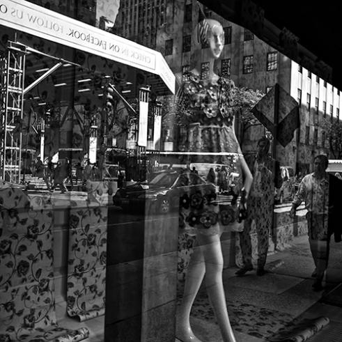 """Window Dressing"" West 50th Street, New York City, USA"