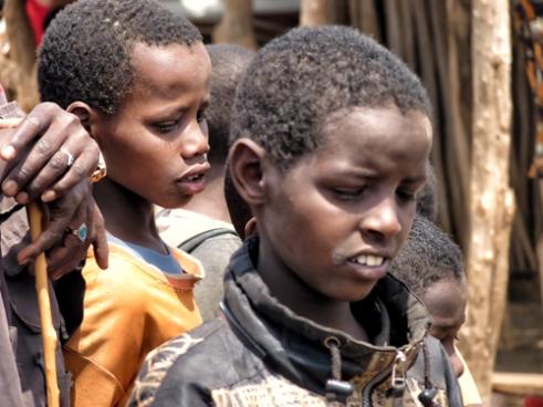 Borana children in a market. Southern Ethiopia.