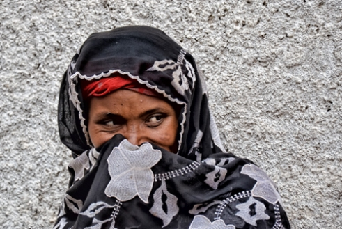 A woman in Harar. Ethiopia.