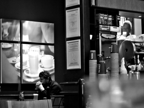Costa coffee Blackpool UK