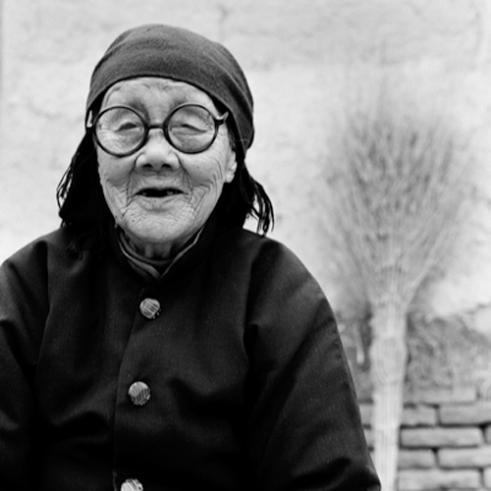 Yang Jing e, 87 years old 2010. Shandong Province, China