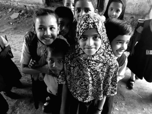 Happy in the slums Dharavi Slum, Mumbai, India