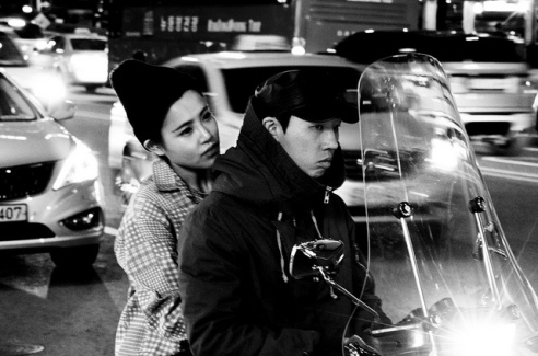 Seoul: Seoul is one of the world's biggest cities and its traffic can be hell. This couple were stuck in the late evening traffic and looked so tired. South Korea.