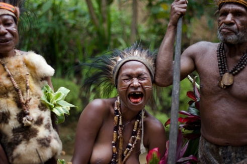 Although our Western dress, customs and lifestyle couldn't be further from those of the remote tribes of Papua New Guinea, the universal languages of friendliness, curiosity and humour cross all boundaries. Hagareto Tribe - Goroka, Central Highlands, PNG