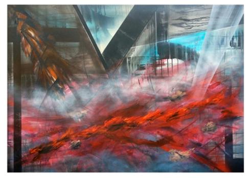 Take Control - Ink, Oil & Aerosol on Canvas - 2013