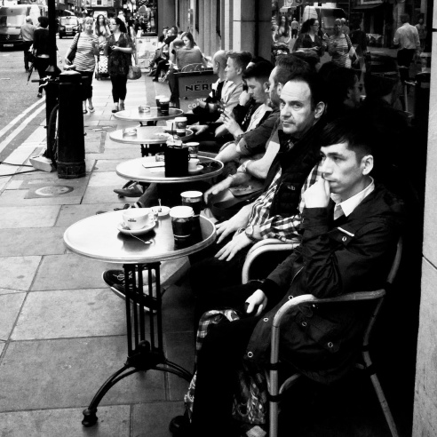 Coffee alfresco Soho, London, England