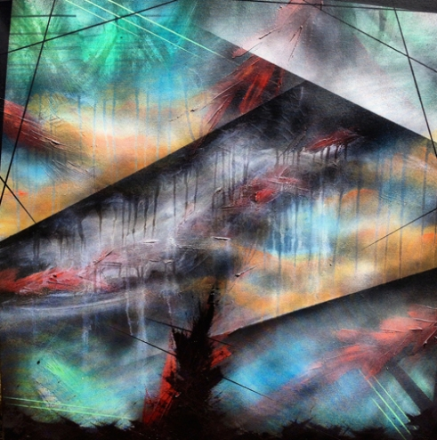 The Wrong Sky - Oil & Aerosol on Canvas - 2014