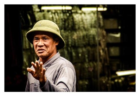Man in the street of Hanoi, Vietnam