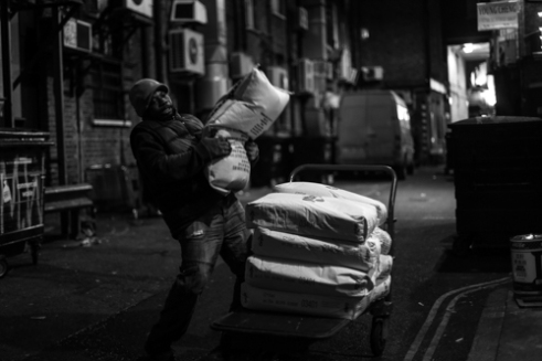 """Night Deliveries"" Chinatown, London UK"