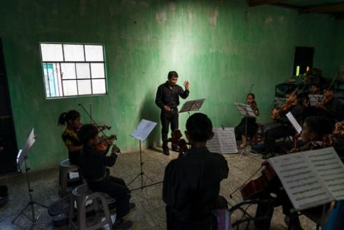 Orquesta Sinfónica de Balanyá Santa Cruz de Balanyá, Guatemala