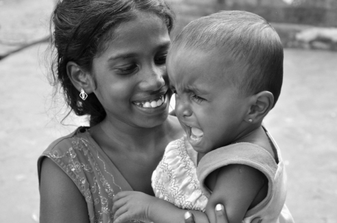 Laugh and cry TIrunelveli, India