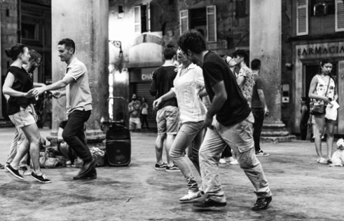 Dancing in the night Florence, Italy