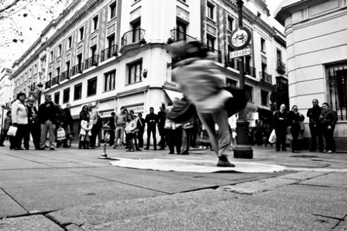 Street busker Sevilla, Spain