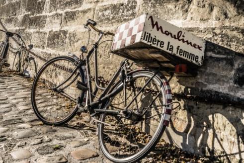 Moulinex en vélo (Paris port de plaisance)