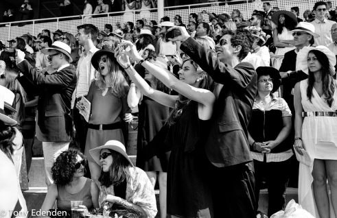 Racing spectators Chantilly, France