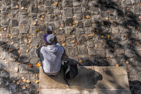 Solitude d'automne (Paris bord de Seine)