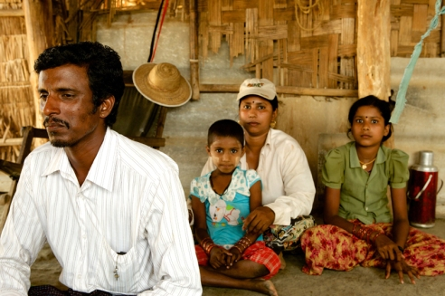 "Kyaw Win & family ""If I have land, I have food. If I have cows, I have food."" -Kyaw Win"
