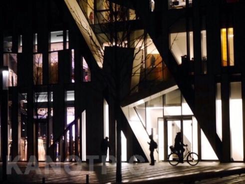 The Urban rhythm of light and dark, Köbogen Building designed by Daniel Libeskind Düsseldorf, Germany