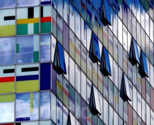 Playing all the colours, designed by William Allen Alsop <br/> Düsseldorf Harbour, Germany