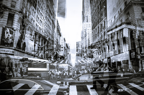 fine art street photography essay – new york city  usa   edge of    intersection new york city  usa