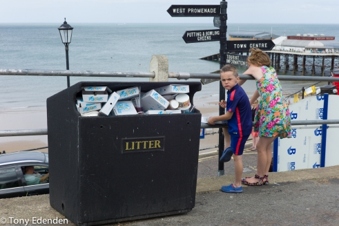 Litter Bin Cromer, Norfolk, England