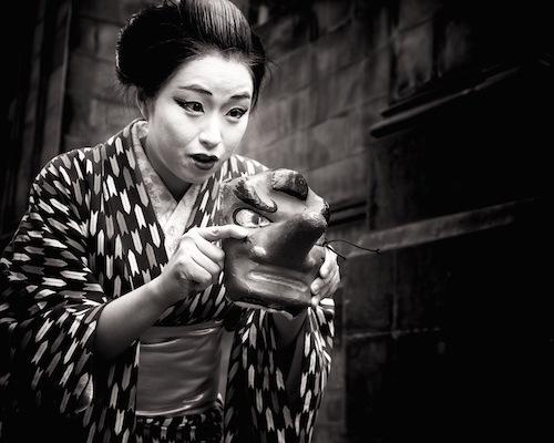 b amp w street photography essay – united kingdom   edge of humanity    kabukimono  dance troupe edinburgh  scotland