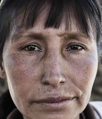 Portrait of Maria, destitute of the Plaza San Sebastian in Cochabamba, Bolivia.