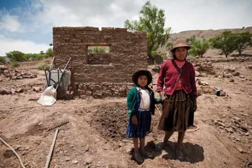 Cala-Condore family lives alone in the deep valley of Saraga. Two older daughters are going to the nearest school located four hours by walking.