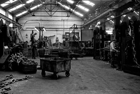 The Chain Workshop. Griffin Woodhouse (Cradley Heath, The Black Country West Midlands UK)