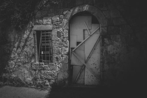 Hebron Door June 16, 2015 - The front door of a Palestinian home which has reportedly been welded shut for security measures by Israeli Defense Forces in Hebron.
