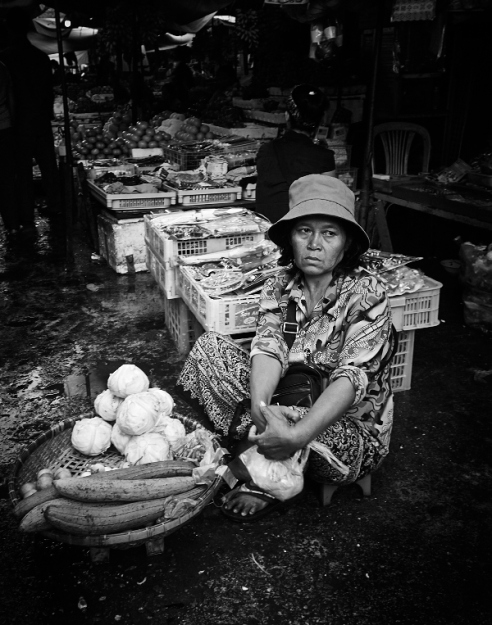 Vegetable seller Cambodia
