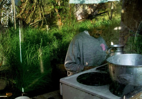 My grandmother cooking in her home, Cundinamarca, Colombia.