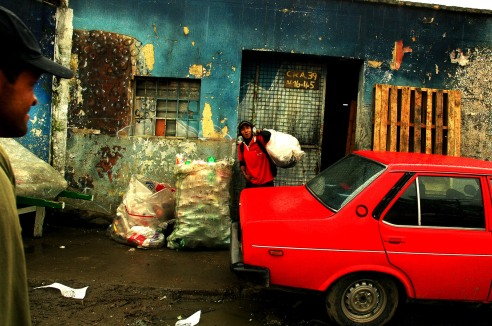 Marginal neighborhood where people use recycling as a way of living, Bogota, Colombia.