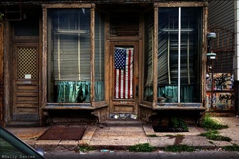 Flag. Driggs Street, Brooklyn NY