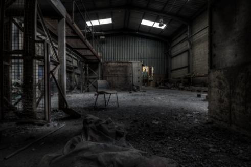 Forgotten Chair Abandoned Brickworks in Surrey, Canada