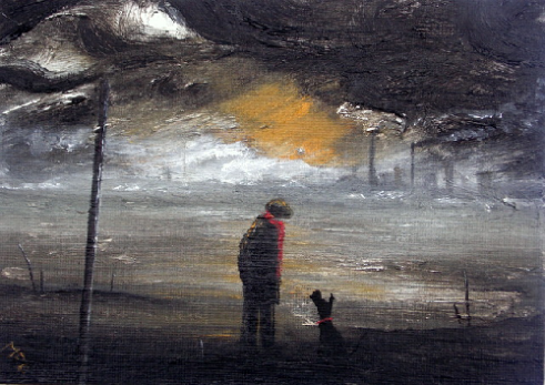 A Walk and a Talk Oil painting