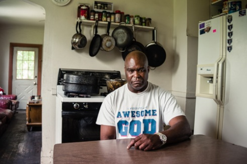 """""""Leroy"""" a resident of one of the church's residential housing facilities. Peacemakers International residency - Chene St., Detroit."""