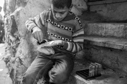 Lighter boy Bethlehem, Israel