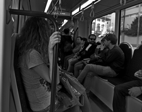 On the tram Florence, Italy (2)