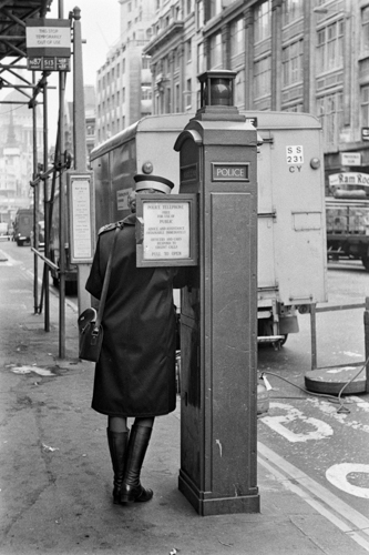 Parking agent, London (January 1976).