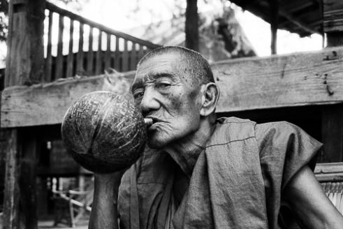 Smoking Monk, Myanmar