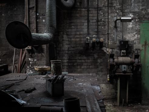 Welding bench Abandoned Brickworks in Surrey, Canada