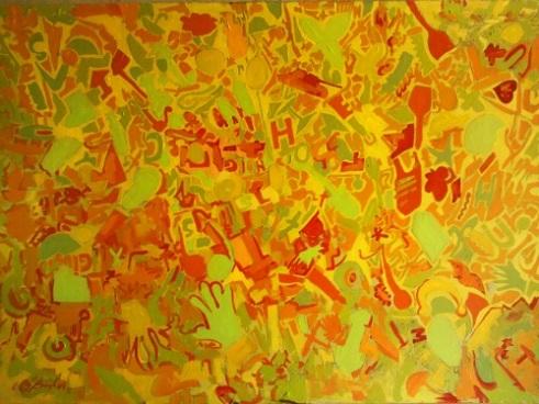 Beautiful Chaos Oil on Cardboard